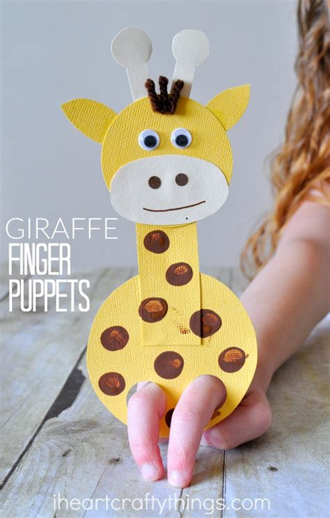 puppet craft for adorable giraffe finger puppet craft i crafty things