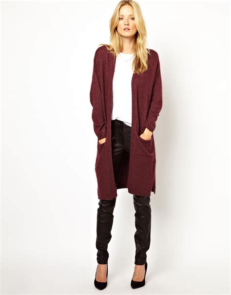 oversized knit cardigan asos longline knitted cardigan in oversized fit in