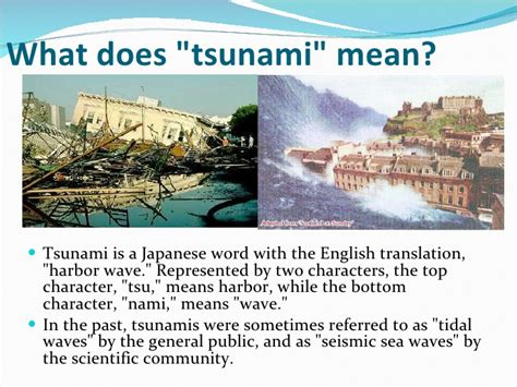 what does in presentation on tsunami