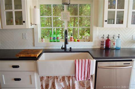 How To Put Up Tile Backsplash In Kitchen diy herringbone beadboard backsplash farmhouse38