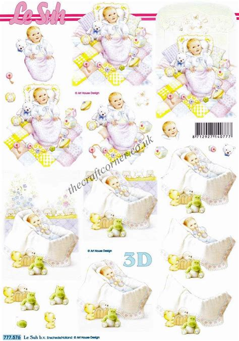 baby decoupage baby boy with toys 3d decoupage sheet