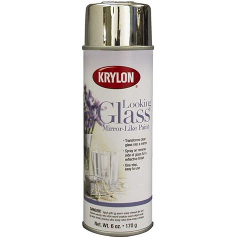 spray paint on glass krylon looking glass mirror like spray paint 6 oz 9033