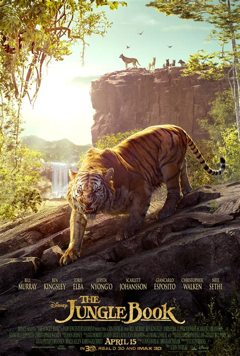 pictures from the jungle book the jungle book poster gives shere khan his up