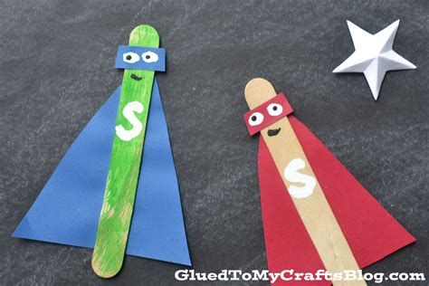 popsicle stick kid crafts popsicle stick superheroes kid craft