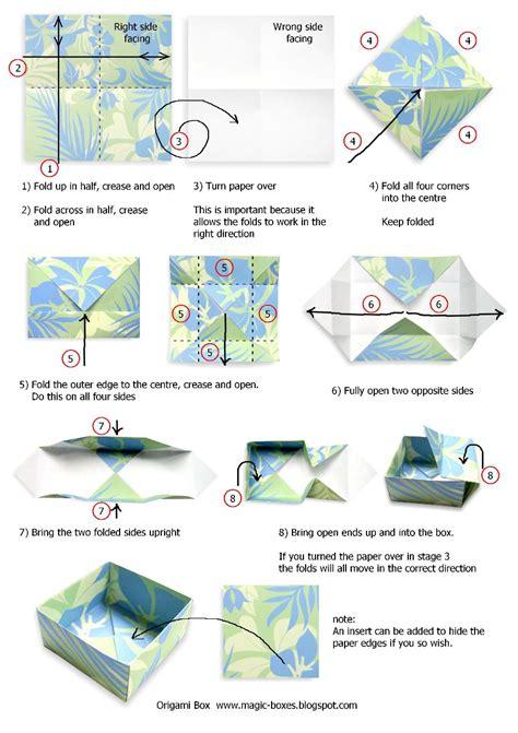 origami box steps origami box tutoriial magic boxes xmonic