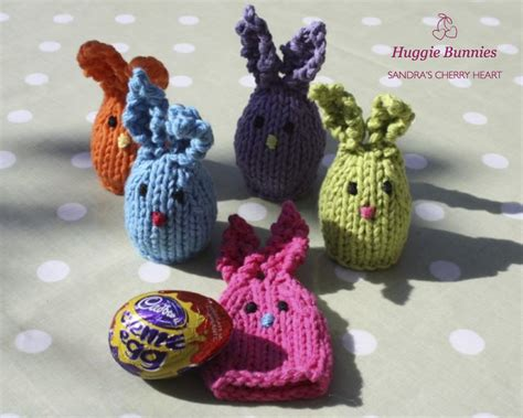 easter egg knitted covers easter huggie bunnies