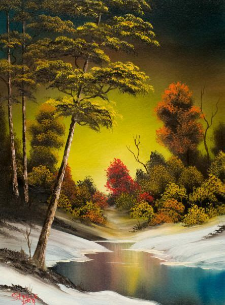 original painting by bob ross for sale bob ross golden sunset paintings bob ross golden