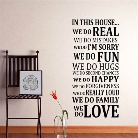 in this house wall sticker in this house wall decal sticker vinyl by happywallz