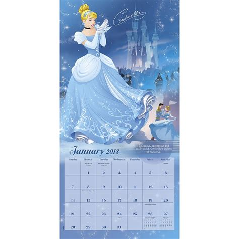 2018 disney pixar wall calendar day disney princess wall calendar 038576554788 calendars