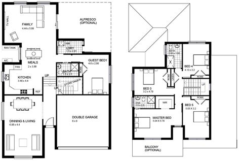 2 story house floor plans two storey house design with floor plan modern house plan modern house plan