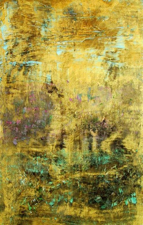 acrylic painting gold abstract painting with gold black and turquoise