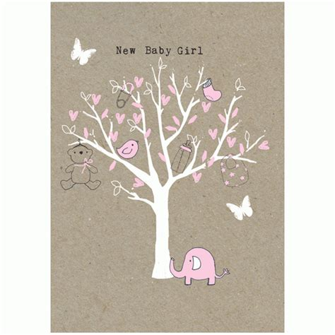 tree for baby baby card tree design