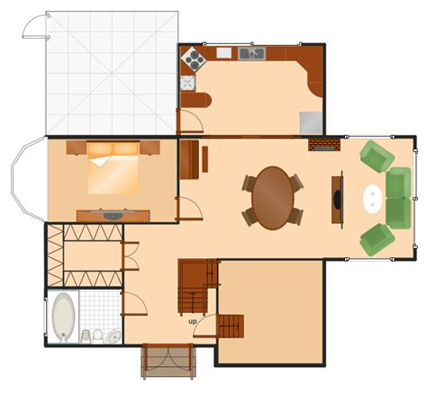 make a house floor plan floor plans solution conceptdraw