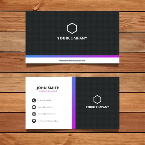 how to make a simple business card simple business card design vector free