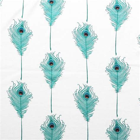peacock knit fabric teal green peacock feathers cotton interlock knit fabric