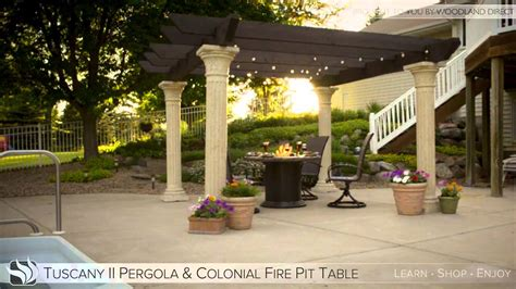 pergola with pit tuscany ii pergola with colonial pit