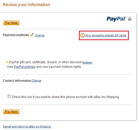 can you make a paypal with a prepaid card prepaid gift cards paypal home