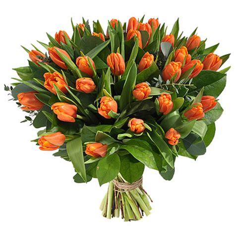 orange delivery flower delivery bouquet of orange tulips