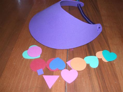 foam crafts for preparing your child for preschool decorating sun visors