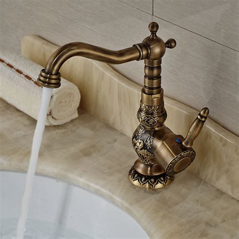 antique kitchen sink faucets antique brass deck mount kitchen faucet one handle mixer tap brass sink ta ebay