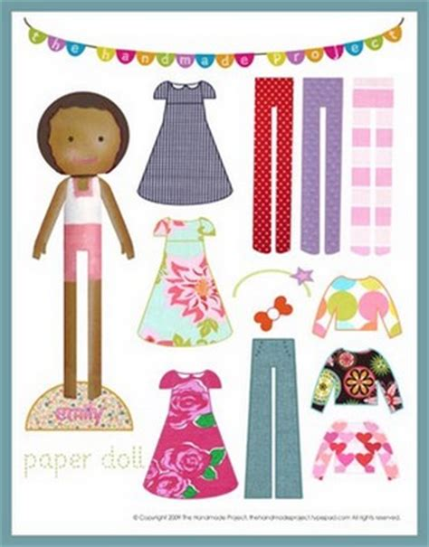 all free paper crafts american paper doll