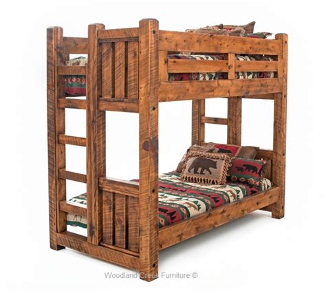 bunk bed wood solid wood bunk bed barn wood bunk bed rustic bunk bed