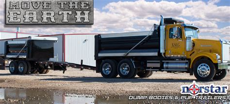 dump truck bed norstar dump truck beds and pup trailers
