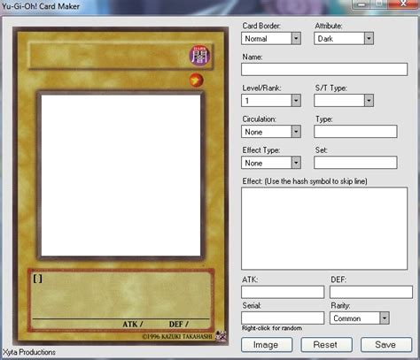 how to make a yugioh card create your own cards fan corner