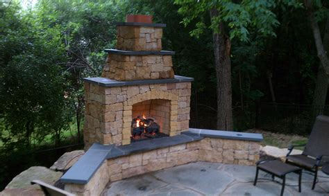 outdoor fireplace kasota outdoor fireplace with bluestone caps and gas log