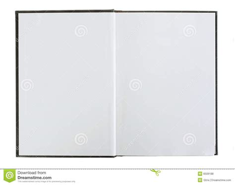 picture of an open book with blank pages open book with blank pages stock photo image 6509188