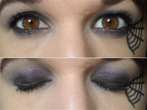 maquillage yeux toile d araignee