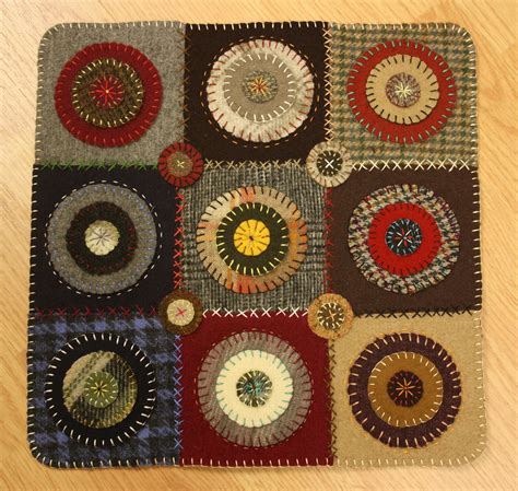 Penny Rugs Free Patterns wool penny rug ashton publications