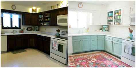 cheap kitchen makeover ideas before and after this bright and cheery kitchen renovation cost just 250