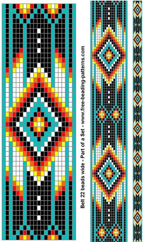 indian bead weaving patterns american beadwork turquoise diamonds belt