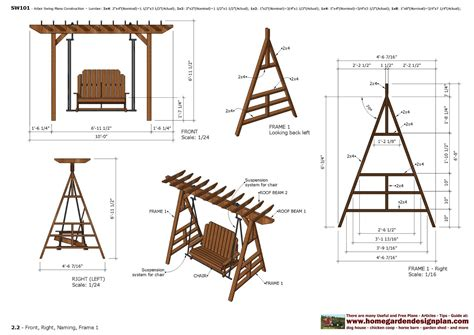 Pergola Swings home garden plans furniture plans arbor swing plans