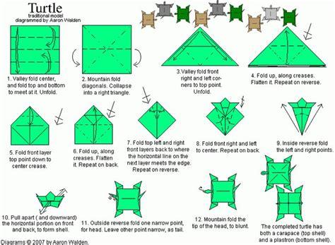 origami turtle diagram pin by danielle gomez on stuff