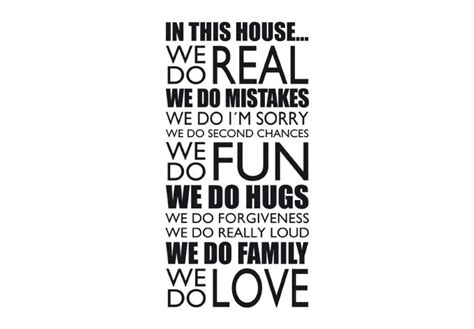 in this house wall sticker in this house we do wall decal quote decorative vinyl