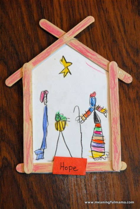 manger craft for and a nativity craft allfreekidscrafts