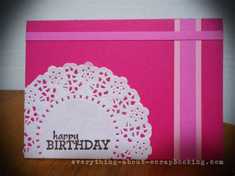 scrapbooking and card pink scrapbooking birthday card idea everything