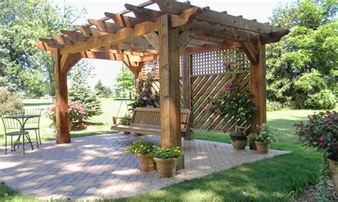pergola with pit patio roofs designs pergola with pit and swings