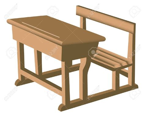 Wooden School Desk Chair by Furniture Clipart School Desk Pencil And In Color