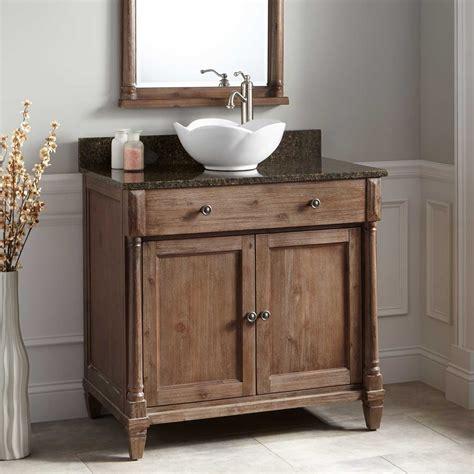 bathroom vanities with sink 36 quot neeson vessel sink vanity rustic brown bathroom