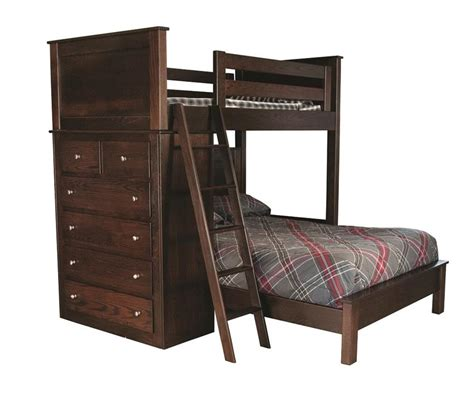 amish bunk beds amish bunk bed with drawers