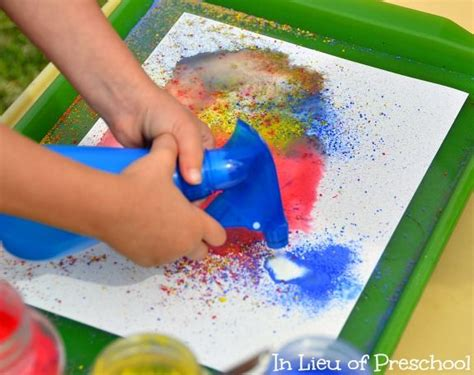 spray paint cosmo kid productions spray paint with powder paint and water children can