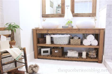 Spa Style Bathroom Vanity by Diy Wood Vanity In The Master Bathroom