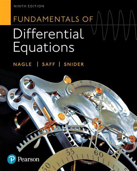 nagle saff snider fundamentals of differential