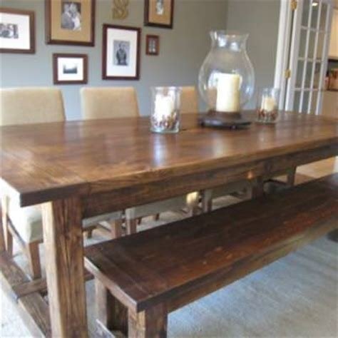 bench style kitchen tables diy farmhouse table and bench kitchen tip junkie