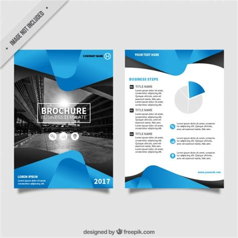 flyer template free flyer template with blue abstract forms vector free