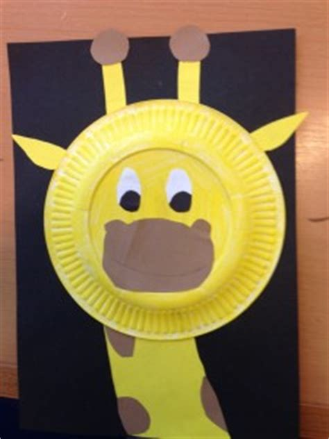 giraffe paper plate craft giraffe craft idea for crafts and worksheets for