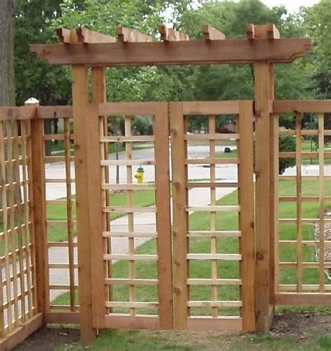 Garden Arbor With Gate Kit 17 Best Images About Craftsman Fences Gates On